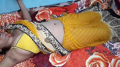 Indian Bhabhi Sex In Yellow Sari Real Fucking